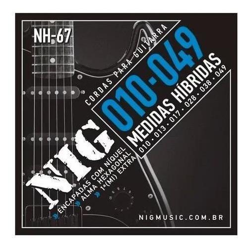 Encordoamento Guitarra Aço 010 049 Nig Nh67 Híbrida Garantia