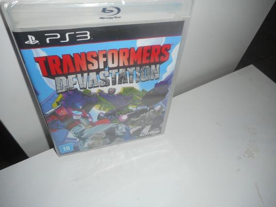 Transformers Devastation Ps3 Mídia Física Novo Lacrado