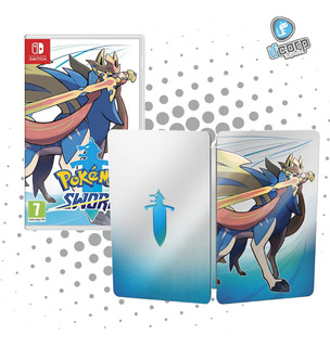 Juego Pokemon Sword Mas Steelbook Nintendo Switch Nuevo