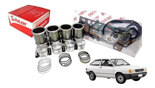 Imagem 1 de 2 de Kit Motor Pistão Anel Camisa Junta Gasolina Cht Gol 1000 1.0