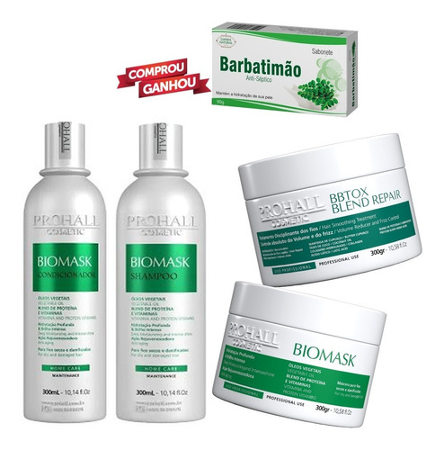 Prohall Kit Biomask + Botox Capilar Blend Repair Original