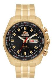 Relogio Masculino Automatico Orient Dourado Com Data 469gp05