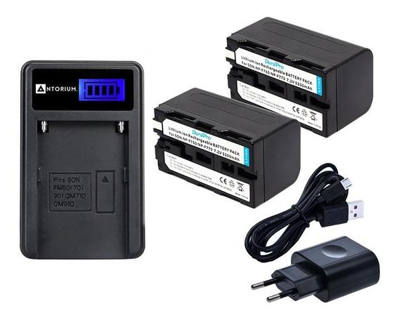 Carregador +2x Bateria Sony F770 F750 Tbm F570 F550 F970 +nf