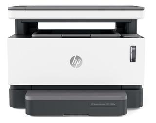 Impresora multifunción HP Neverstop 1200W con wifi 110V blanca y gris
