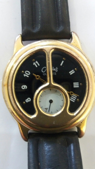 Relógio Maximus Em Plaque Ouro Anos 80 N Omega Tissot