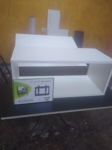 Imagen 1 de 3 de Estantería Combo Soporte Fijo Hasta 43  Tv Lcd Smart Pc Play