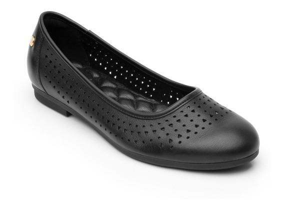 Zapato Piso Casual Dama 101704 Flexi Negro