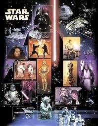 Sellos Postales Star Wars