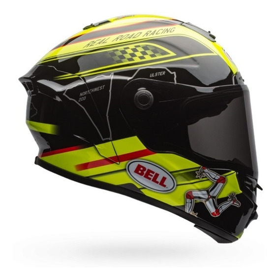 Capacete Bell Star Isle Of Man Black Yellow