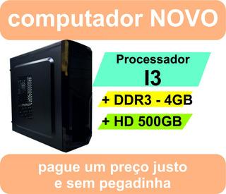 Pc Micro Computador Desktop Intel I3 Hd500 4gb Ddr3