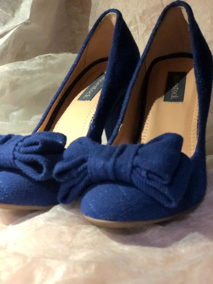 Sapato Salto Azul Shoestock