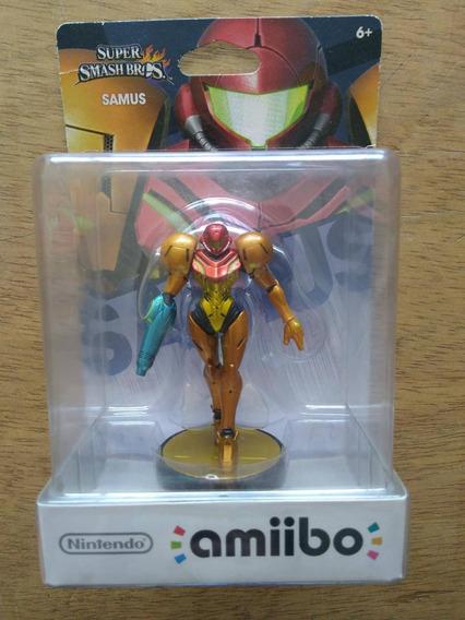 Amiibo Smash Bros Samus Metroid Lacrado