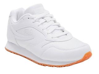 Tenis Hombre Fila Modelo Clásico 18 Casual Blanco 1cm00141