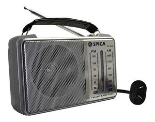Radio Spica Sp5058 Retro Am/fm Dual Bandas Pilas