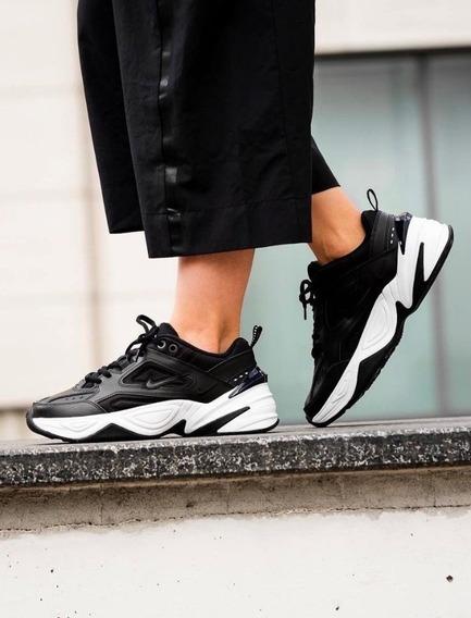 Zapatillas Nike M2k Tekno Negras Y Blancas