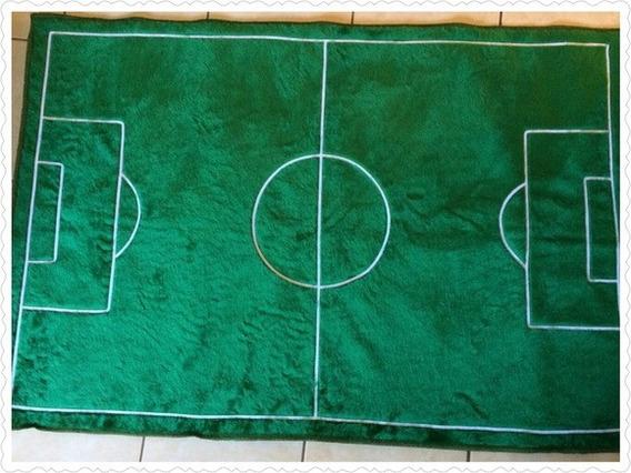 Tapete Pelúcia Quarto Infantil Campo De Futebol 1,10 King