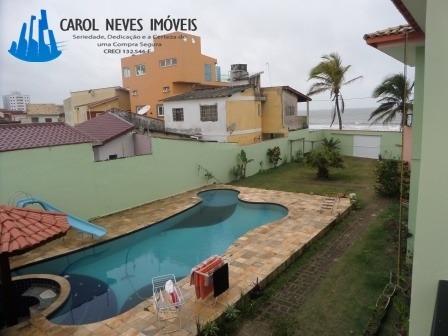 3090-imperdível!!super Casa De Frente Para Praia Em Itanhaém