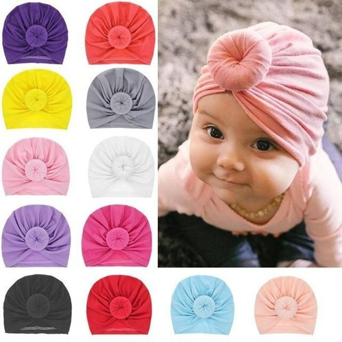 9 Piezas Gorro para beb/é para ni/ñas peque/ñas de algod/ón Suave Turbante India Headwrap reci/én Nacido beb/é ni/ñas Accesorio Cap para 0-5 a/ños de Edad XUNQIARS Set de Regalo para beb/é