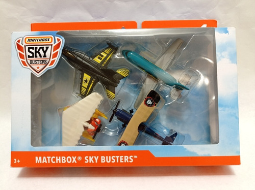 Set X 4 Aviones De Colección Matchbox Sky Busters