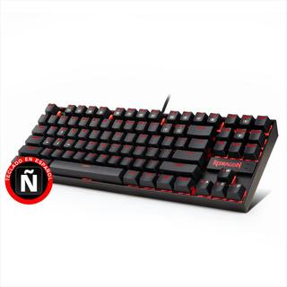 Teclado Gamer Mecánico Redragon K552 Kumara, Iluminación Red