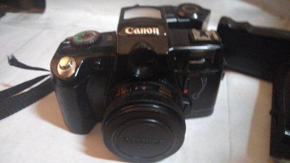 E - Maquina Fotográfica Canon Eos 500 N Semi-nova Com Flash
