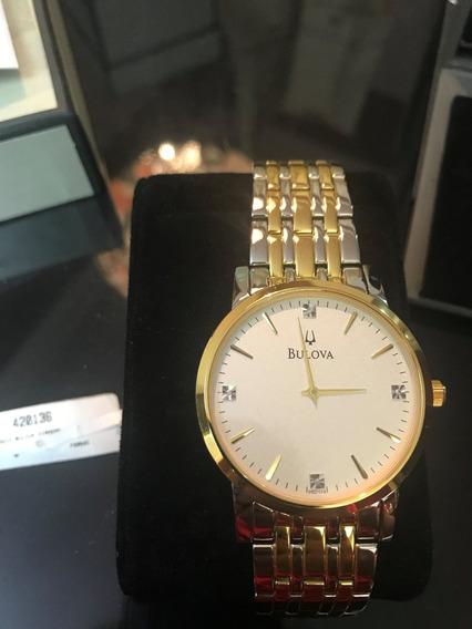 Relógio Bulova Diamond 98d114 Original Novo