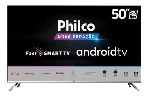 Imagem 1 de 4 de Smart Tv Philco Led 50 4k Wi-fi Android Google Play