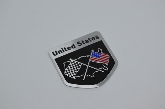Emblema Bandeira Usa Gm Dodge Camaro Corvette Ford Mustang