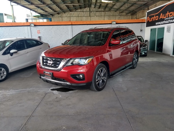 Nissan Pathfinder Exclusive 2017 Roja