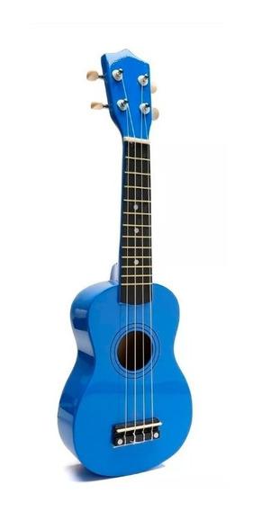 Ukelele Soprano Midiplus De Madera Con Funda Azul Promo