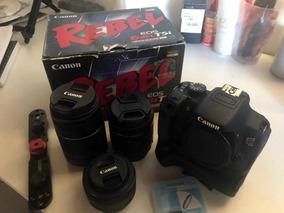 Kit Canon T5i + Lente 50mm 1:8 + Filtro N/d + Suporte