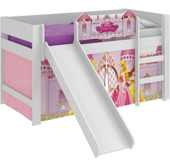 Cama Infantil Escorregador Princesas Disney Play Pura Magia