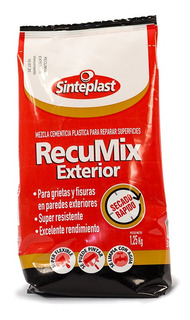 Recumix Exterior Mezcla Cemento Bco 1,25kg - 18 Cuotas S/int