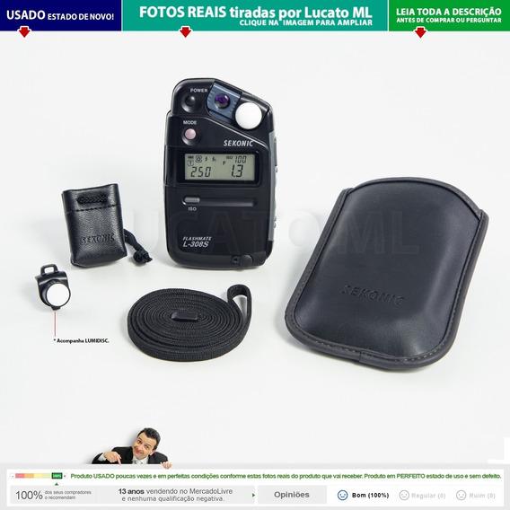 Fotômetro Sekonic L308s Como Zero Com Lumidisc + Capas | 2b