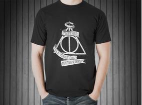 Camiseta Masculina Harry Potter Reliquias Da Morte 100% Alg