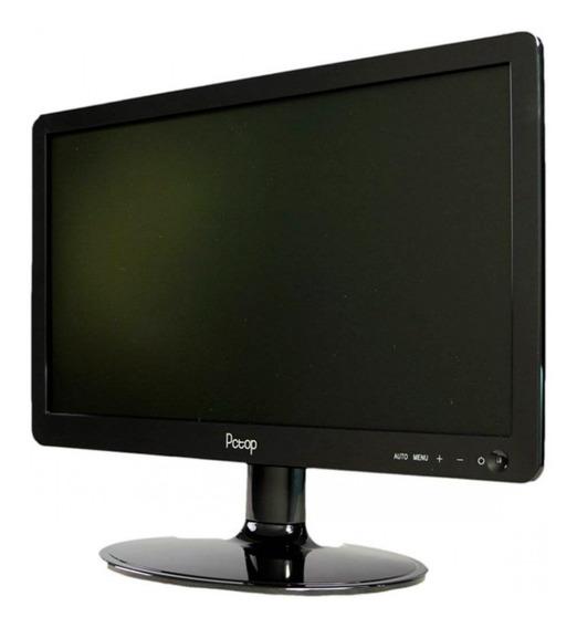 Monitor 15,6 Pctop Led Slim Mlp156hdmi Preto Com Hdmi