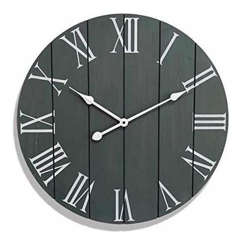 Large Decorative Wall Clock - Farmhouse Home Decor - Kitche