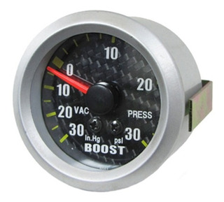 Medidor Presion Turbo Boost 52 Mm Psi Carbon