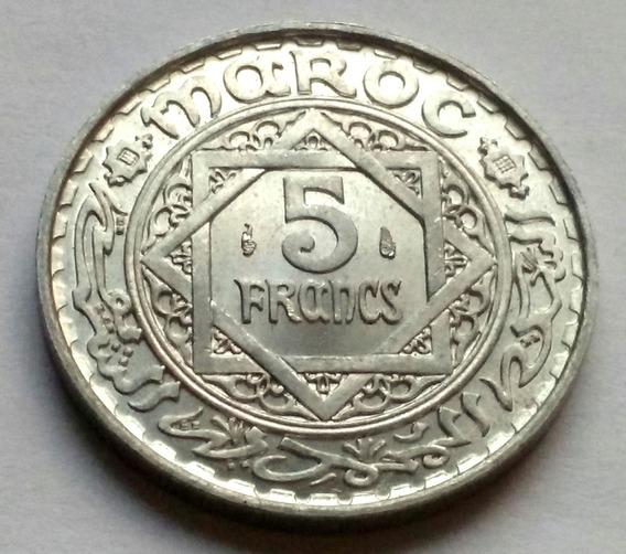 Moneda De Marruecos, 5 Francs 1951. Sin Circular.