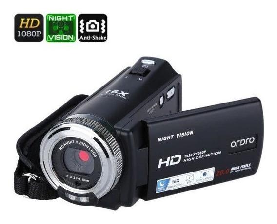 Filmadora Dig Ordro Hdv-v12 V. Noturna 20mp 16x Zoom Full-hd