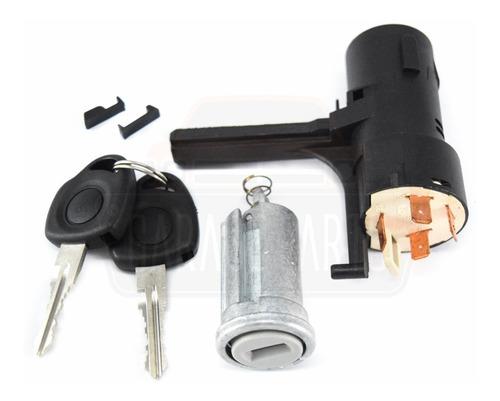 Imagem 1 de 4 de Kit Cilindro Ignição Transponder  + Comutador Celta Prisma