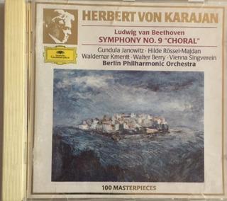 Ludwig Van Beethoven 1963 Cd Choral # 9 Herbert Von Karajan