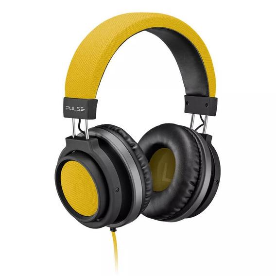 Fone De Ouvido Aux P2 Large Amarelo Pulse Otimo Headphone