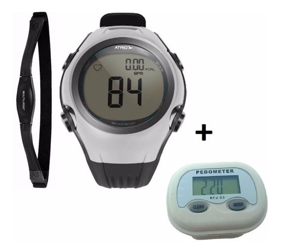 Kit Relógio Monitor Cardíaco Altius Multilaser + Pedômetro