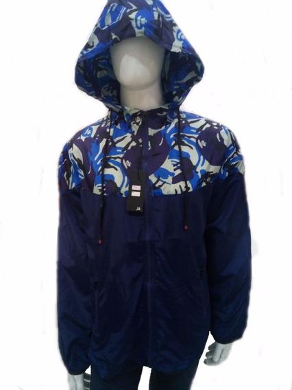Jaqueta Blusa Masculina Corta Vento Com Capuz Casaco