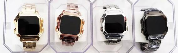 Relógios Digital-led Quadrado C/4 Unissex Atacado Revenda