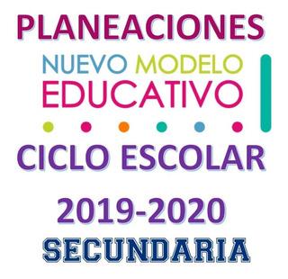 Planeaciones Trimestrales Secundaria 2019-2020