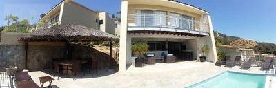 Cad Villa Marlin. Alberca Privada, Jardín, Palapa, Sala De Tv