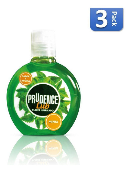 Lubricante Corporal Prudence Sabor Menta 30ml 3pack - S005