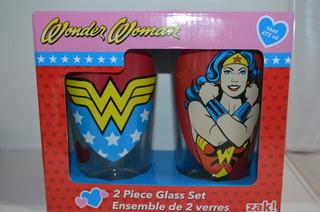 Wonder Women 2 Vasos De Vidrio Coleccionables